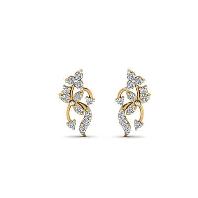 gold long earrings jewelry