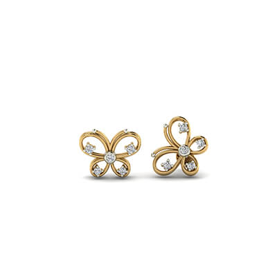 gold stud earrings for girls