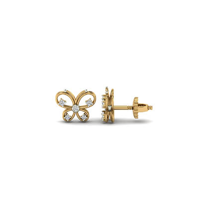 gold stud earrings for kids