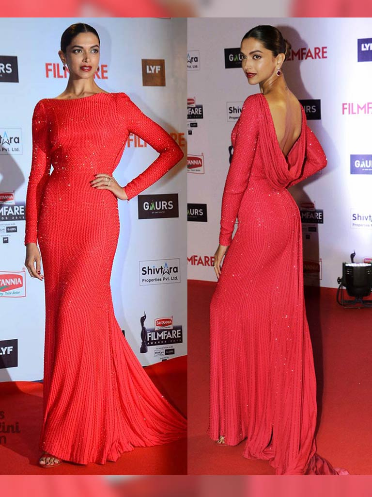 Deepika Padukone's Blazing Red Outfit