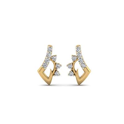 red stud earrings for women