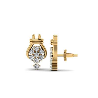 blue diamond stud earrings