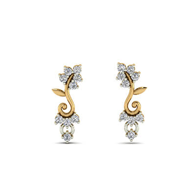 Enchanting Golden Drop Earrings