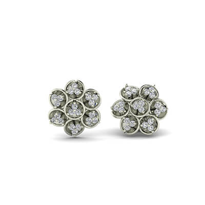 single diamond stud earring