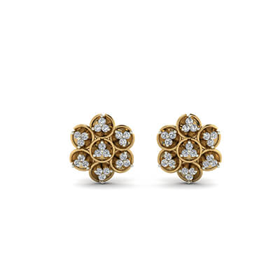 real diamond stud earrings