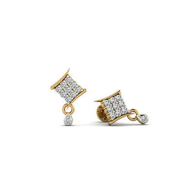 earrings designs in gold with price