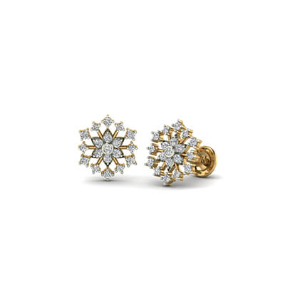 gold stud earrings for kids