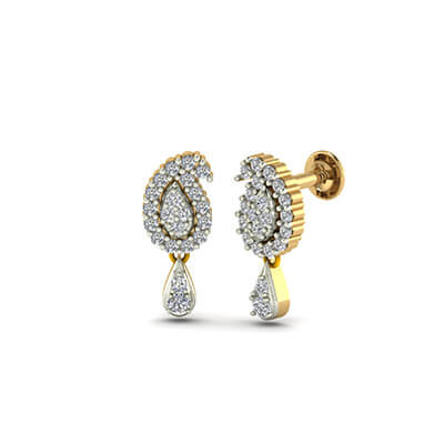 gold earrings designs in malabar gold