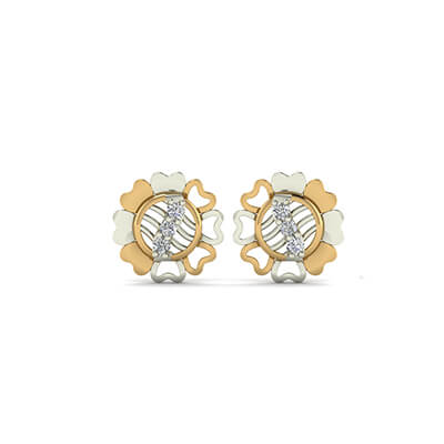 infant diamond stud earrings