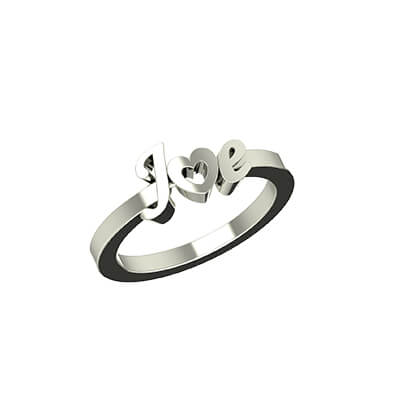 Heart Shaped Initial Gold Ring (4)