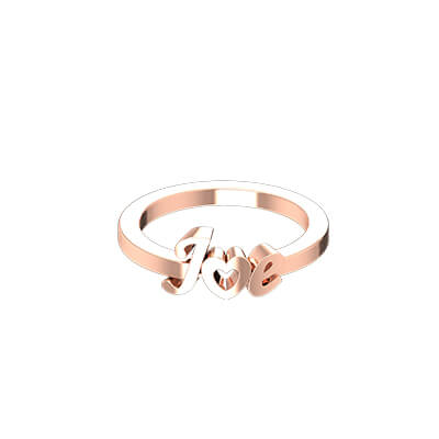 Heart Shaped Initial Gold Ring (5)