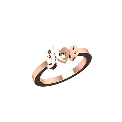 Heart Shaped Initial Gold Ring (6)