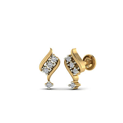 diamond ear stud