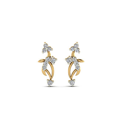 gold earrings for women