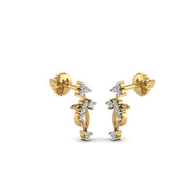 gold earrings for women designs