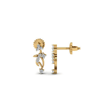 gold earrings for women with price
