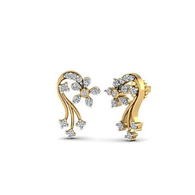 gold design of earrings