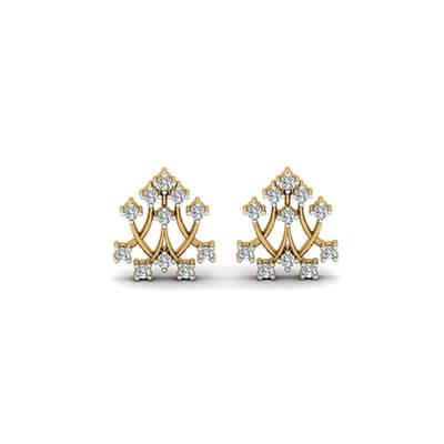 gold earring studs