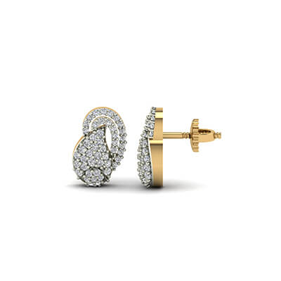 gold stud diamond earrings