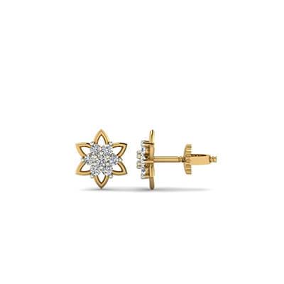 gold stud earrings for girls