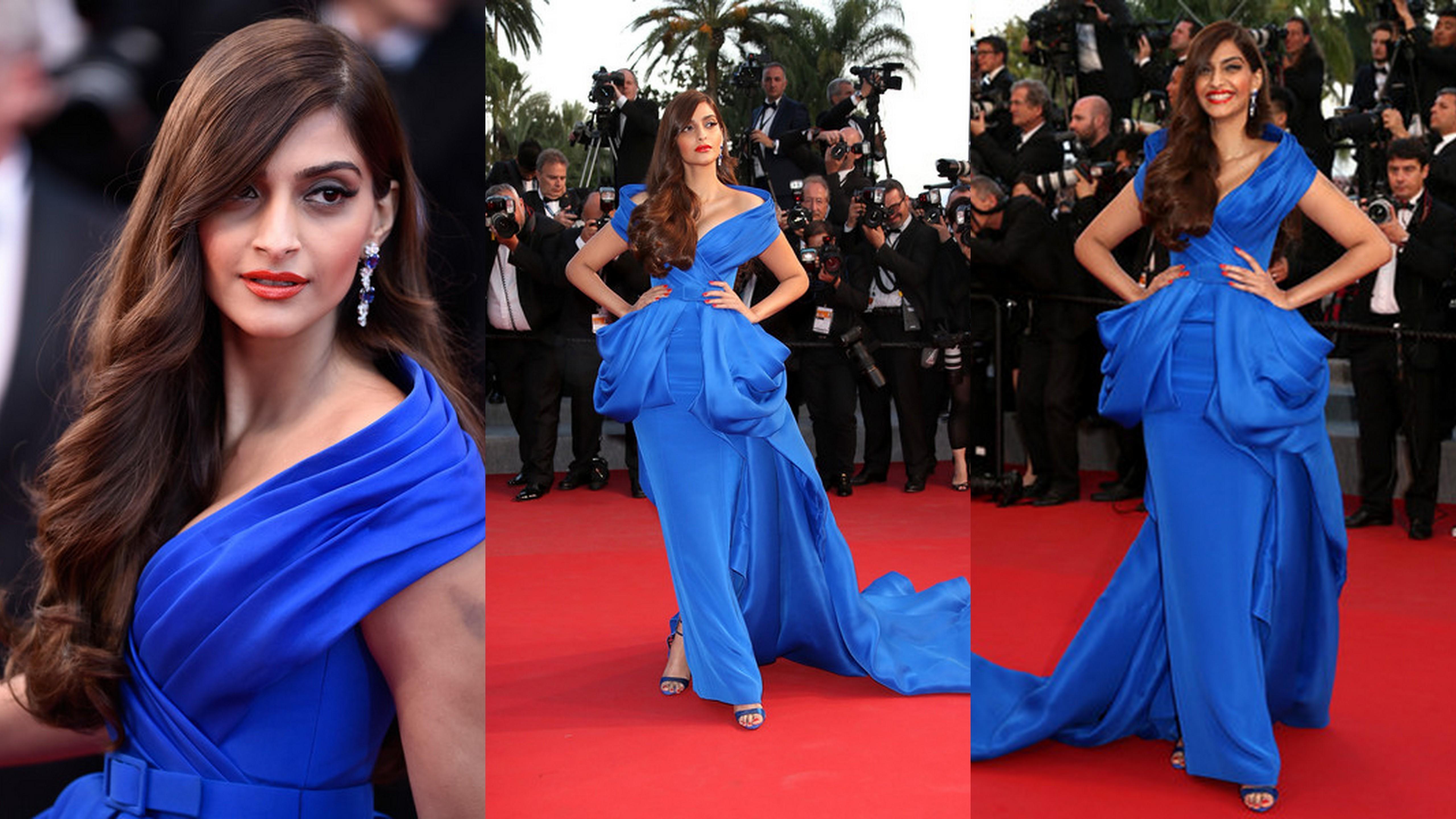 Sonam Kapoor's Blue Gown