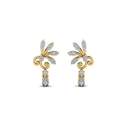gold earrings designs for women