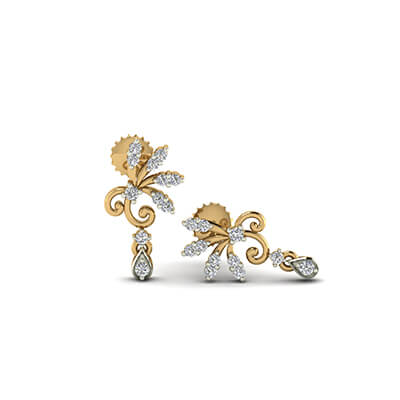latest designs of gold earrings
