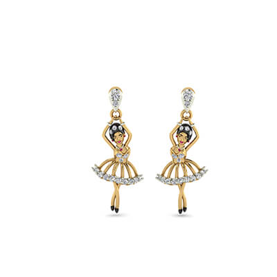 gold latest earrings
