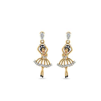 gold latest earrings