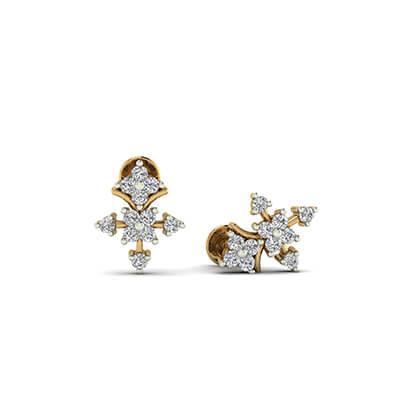 stud gold earrings designs