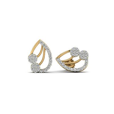 black diamond earrings studs