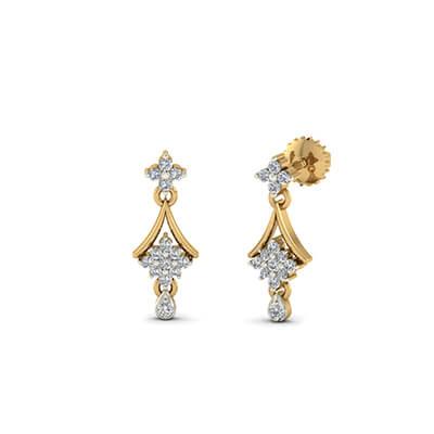 latest design of diamond earrings