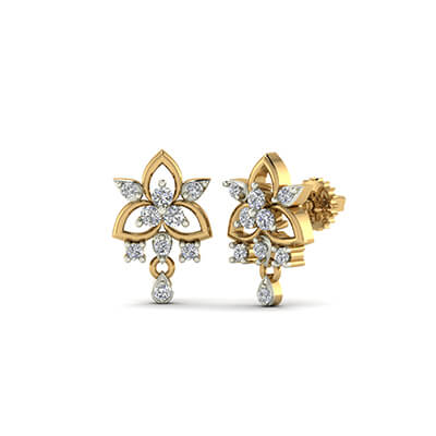 diamond earring stud