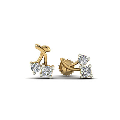 gold ear studs for women