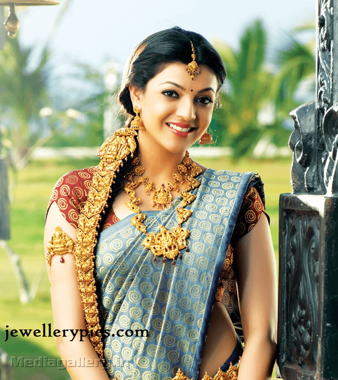 kajal-gold-bridal-jewellery-gold-jada-temple-necklace