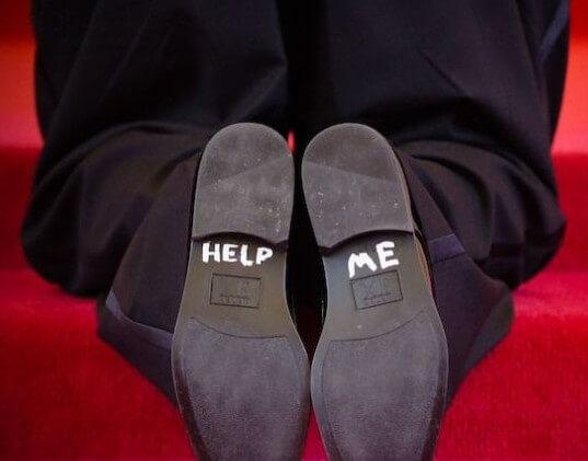 Message in grooms shoe