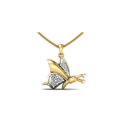 The Butterfly Diamond Pendant For Kids