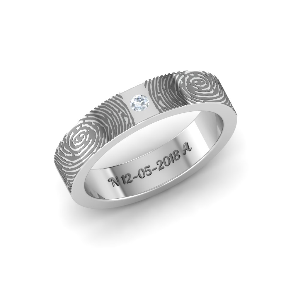f172d18e878 Fingerprint Ring Platinum Finish Ring
