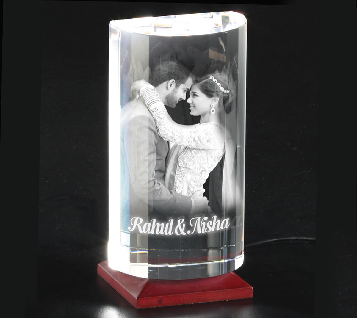 ... wife on the first wedding anniversary. 3D crystal image  sc 1 st  AuGrav.com & 15 First Anniversary Gift Ideas For Wife To Impress Her |