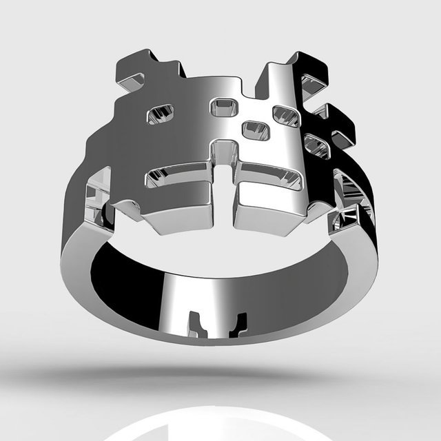 A unique Space Invaders Ring for her