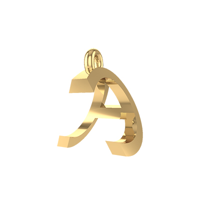 c alphabet gold pendants
