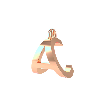 a alphabet gold pendants