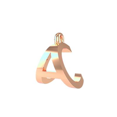 a alphabet gold pendants