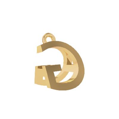 alphabet a pendants gold