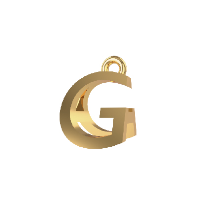 alphabet pendants gold