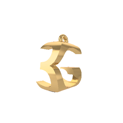 3G letter pendants gold