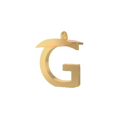 G pendant gold