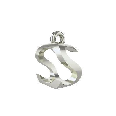 s white gold pendant