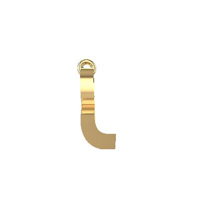 r letter gold pendant