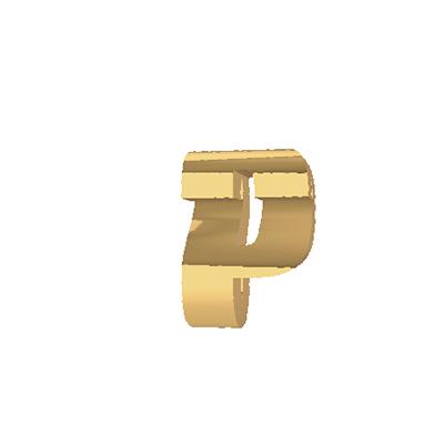 p gold pendant